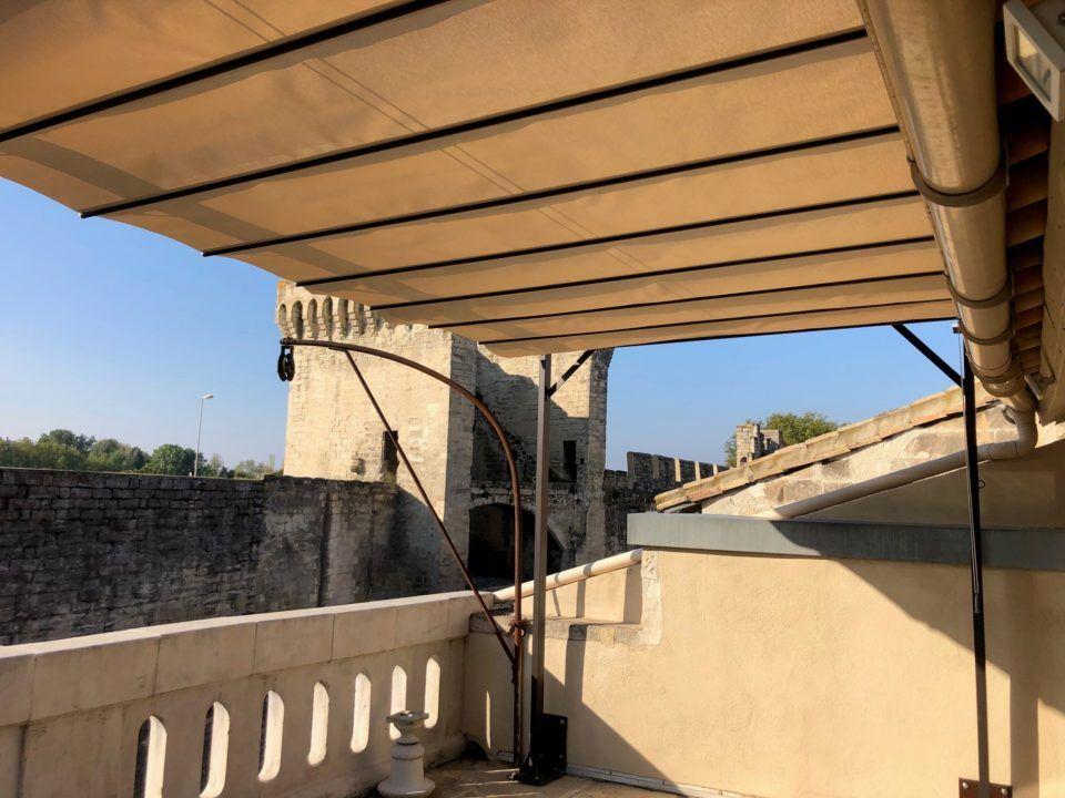 Pergola toile terrasse