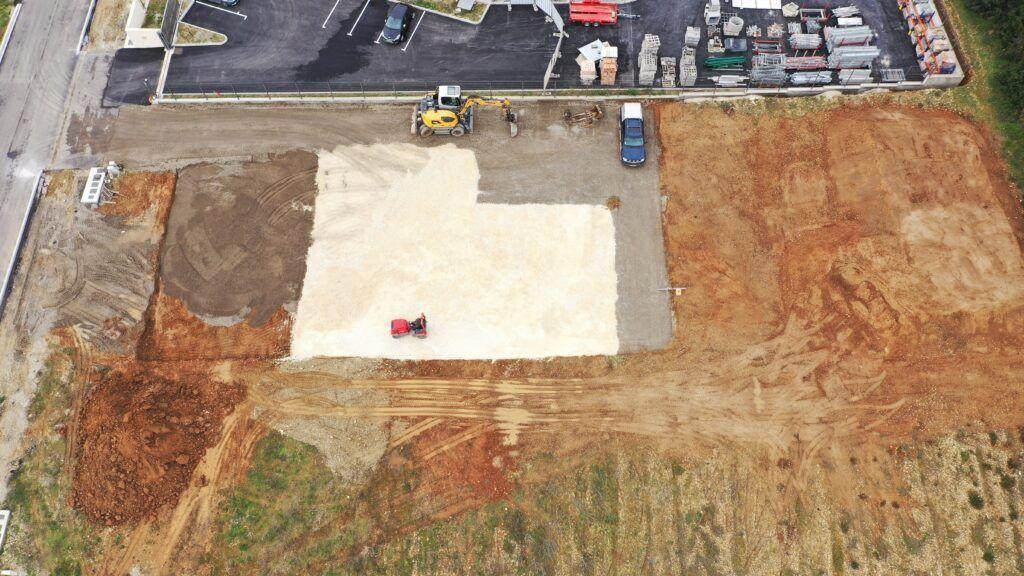 Vue aérienne chantier Passion Store