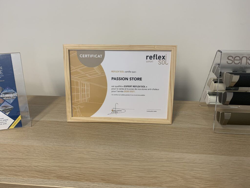 certificat expert reflex'sol