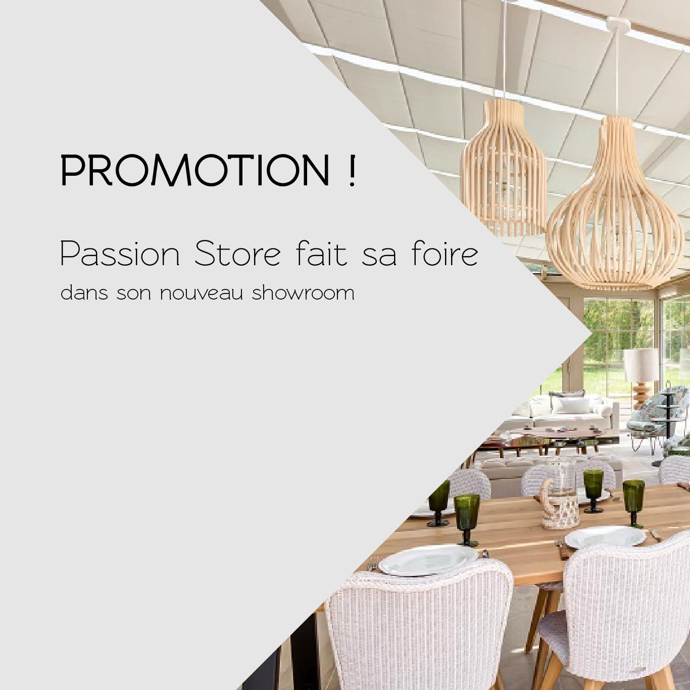 promotion passion store fait sa foire